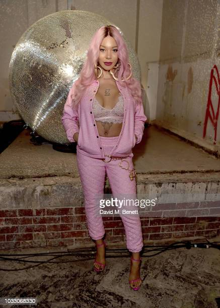Munroe Bergdorf attends the Nicopanda SS19 LFW Runway Show on September 14 2018 in London England
