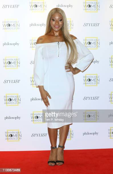 Munroe Bergdorf attends the Remarkable Women Awards at Rosewood London on March 05 2019 in London England