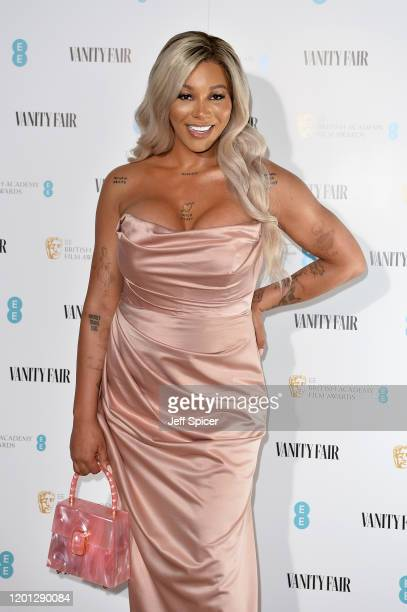 Munroe Bergdorf attends the Vanity Fair EE Rising Star BAFTAs Pre Party at The Standard on January 22, 2020 in London, England.