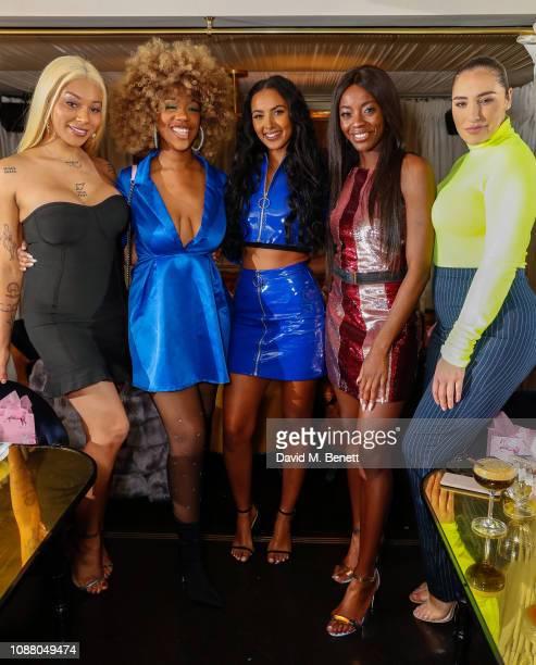 Munroe Bergdorf Chidera Eggerue Maya Jama AJ Odudu and Jada Sezer attend a VIP dinner celebrating the Maya Jama x PrettyLittleThingcom collaboration...