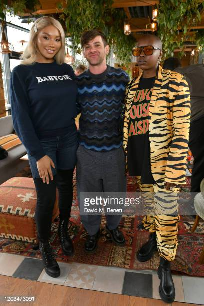 Munroe Bergdorf, Josef Salvat and Char Ellesse attend an exclusive breakfast hosted by 4th Floor Creative to celebrate LGBTQ+ History Month at...