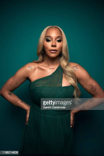 Munroe Bergdorf poses in the GAY TIMES Honours 500 studio at Magazine London on November 21 2019 in London England