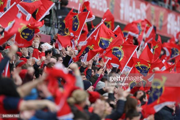 Munster fans during the European Rugby Champions Cup match between Munster Rugby and RC Toulon at Thomond Park on March 31 2018 in Limerick Ireland