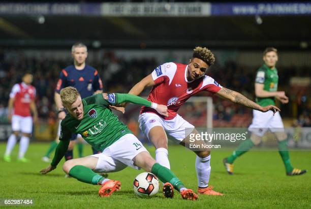 Munster Ireland 13 March 2017 Kevin O'Connor of Cork City in action against Tobi AdebayoRowling of Sligo Rovers during the SSE Airtricity League...