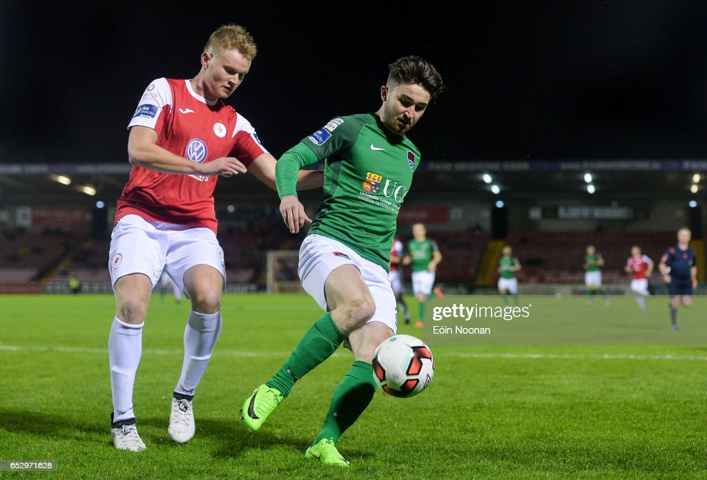 Munster , Ireland - 13 March 2017; Sean Maguire of Cork City in action against Gary Boylan of Sligo Rovers during the SSE Airtricity League Premier Division match between Cork City and Sligo Rovers at Turners Cross in Cork.