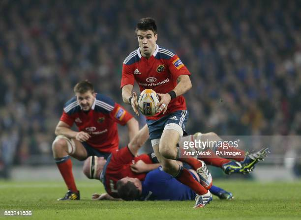 Munster's Conor Murray in action during the RaboDirect PRO12 match at the Aviva Stadium Dublin Ireland