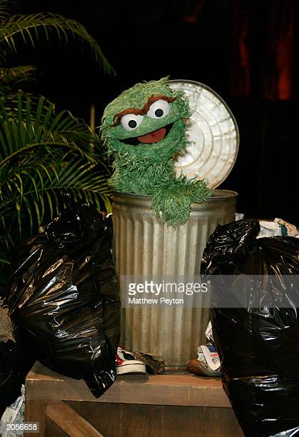 Muppet Oscar the Grouch attends the Sesame Street Workshop 35th Anniversary Gala at Cipriani June 4 2003 in New York City