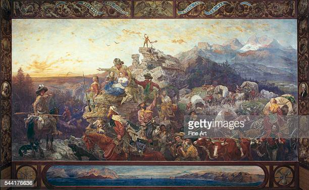 1861 mural 33 1/4 x 43 3/8 Located behind the western staircase of the House of Representatives chamber in the United States Capitol Building...