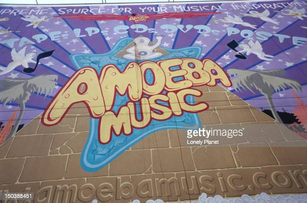 Mural advertising Amoeba Music.