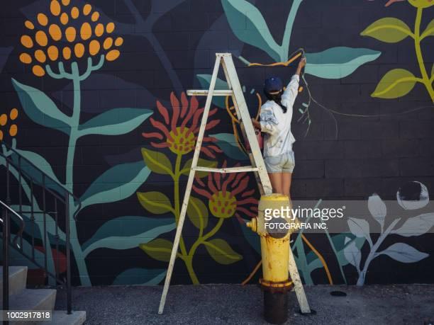 Wandbild Künstler bei der Arbeit