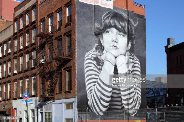 Mural at the intersection of Bedford and Broadway, Williamsburg, New York