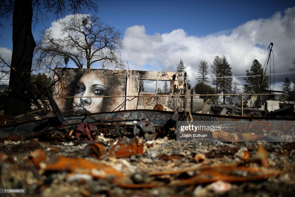 Town Of Paradise Wiped Out By The Camp Wildfire Continues Long Struggle To Rebuild : News Photo