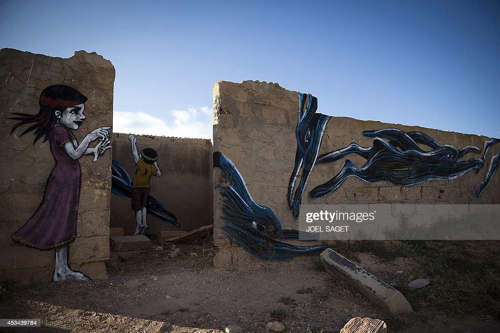 TUNISIA-ERRIADH-DJERBAHOOD-STREET-ART : Photo d'actualité