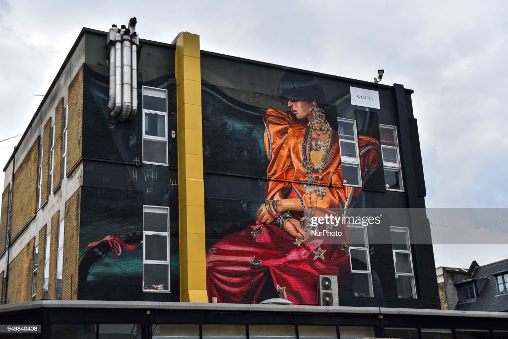 A Gucci Mural In East London