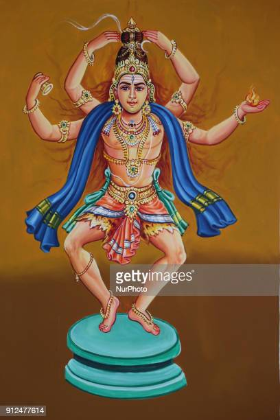 Mural depicting Lord Shiva at the Nataraja Temple in Chidambaram Tamil Nadu India The Chidambaram Nataraja temple or Thillai Nataraja temple is a...