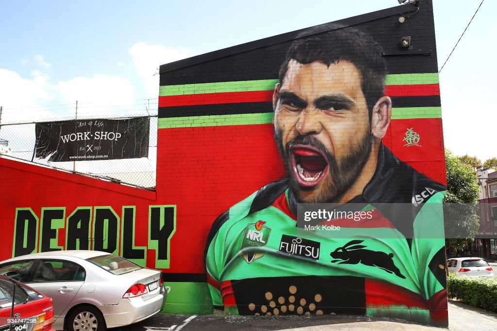 Greg Inglis Mural Depicted On An Inner-City Business
