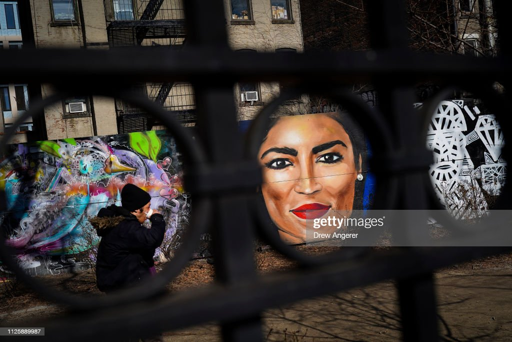 NY: Mural Of Rep. Alexandria Ocasio-Cortez (D-NY) Painted On New York's Lower East Side