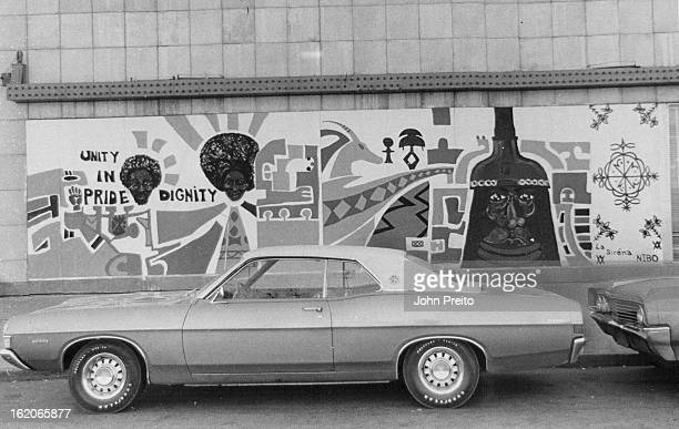 DEC 8 1970 DEC 25 1970 JAN 20 1971 Mural Depicts Helmeted Benin Warrior Work by Bob Ragland is among that by artists providing face lifting at East...