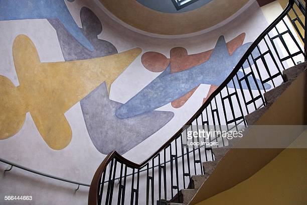 Mural done by Oskar Schlemmer in 1923 for the Bauhaus School of Arts and Crafts and now the Bauhaus University in Weimar