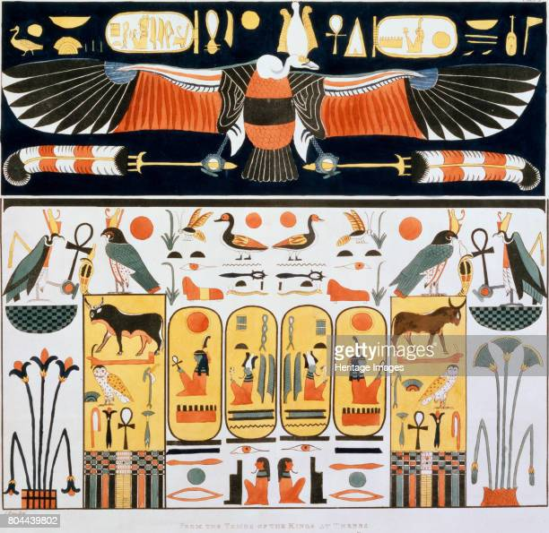 Mural from the tombs of the Kings of Thebes discovered by G Belzoni 18201822 Italian eplorer and antiquity hunter Giovanni Battista Belzoni made...