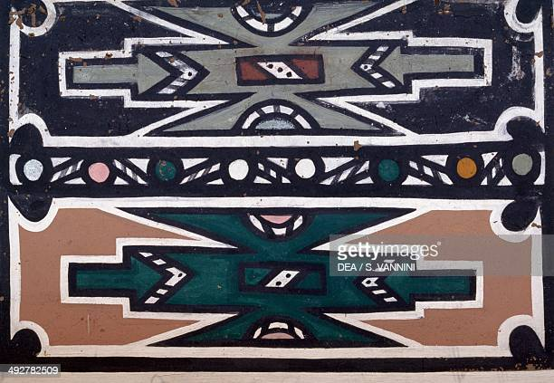 Mural in a Ndebele village South Africa