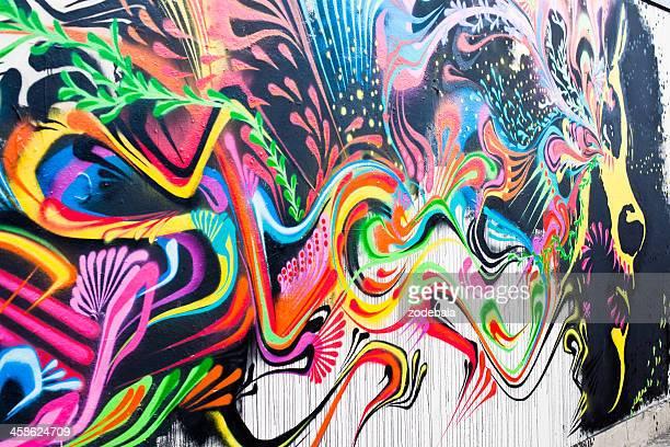 Peinture murale à Londres, visage de la femme