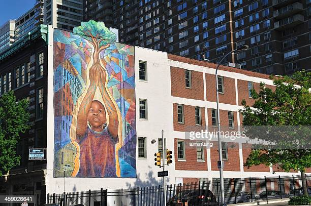 mural in philadelphia - mural stock pictures, royalty-free photos & images