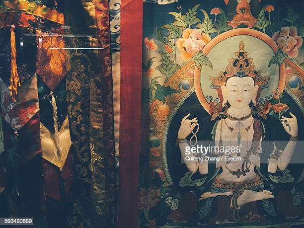Mural Of Buddha At Temple