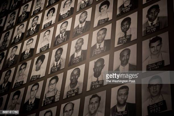 A mural of Freedom Riders who were arrested in Jackson at the Mississippi Civil Rights Museum in Jackson Mississippi on December 7 2017