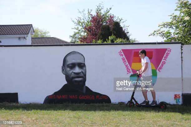 A mural of George Floyd in West Dublin Demonstrations have taken place across Ireland in the wake of Mr Floyd's death after a white officer held him...