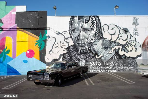 A mural of topranked UFC featherweight Brian Ortega created by artists Tristan Eaton Richard Wyrgatsch II and Alex Kizu in Los Angeles Monday Nov 5...