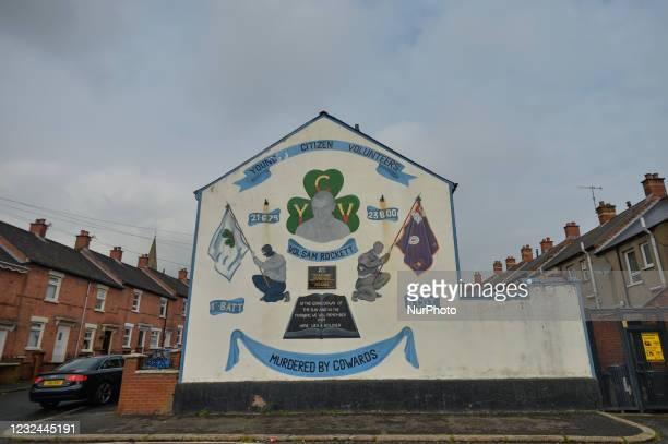 Mural on Disraeli Street near Shankill Road, in Belfast. On Tuesday, April 20 in Belfast, Northern Ireland