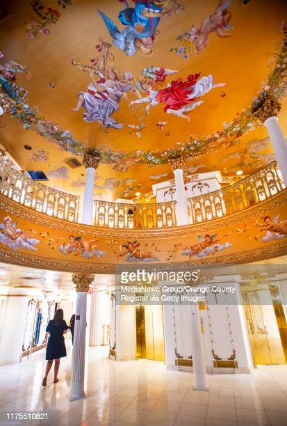 Mural on the ceiling in the former Trinity Broadcasting Network building located on Bear Street and the 405 freeway in Costa Mesa, across the freeway...