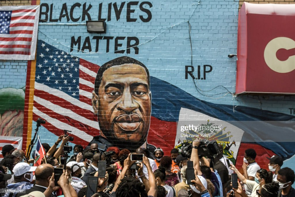 George Floyd's Brother Attends Unveiling Of Memorial Portrait In Brooklyn : News Photo