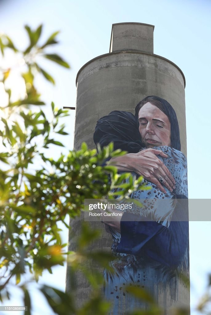 AUS: Mural Of Iconic Jacinda Ardern Image Painted On Melbourne Silo