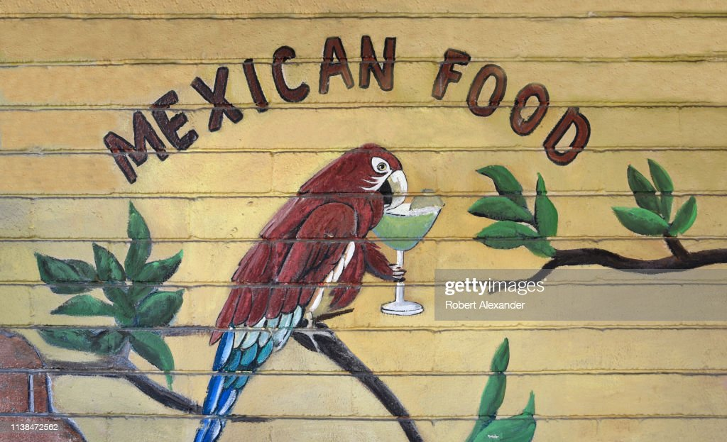 A Mural Painted On The Wall Of A Mexican Restaurant In Palm