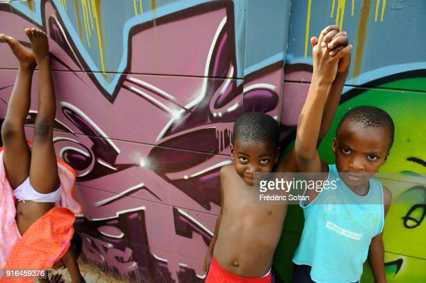 Mural painting and graffitis in Johannesburg on April 10 2017 in Johannesburg South Africa