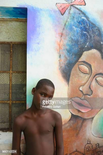 Mural painting and graffitis in the neighborhood of Muraleando in Havana on August 04 2017 in Havana Cuba