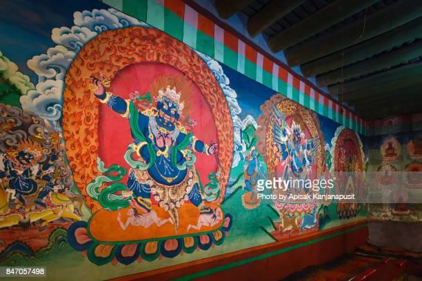 Mural painting in the Hemis monastery, Leh Ladakh, India