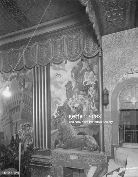 Mural paintings Beacon Theatre interior Broadway between 74th and 75th Streets owned by Warner Brothers New York New York 1929 Walter W Ahlschlager...