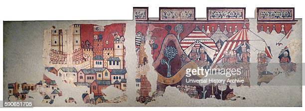 Mural paintings of the conquest of Mallorca Dated 13th Century