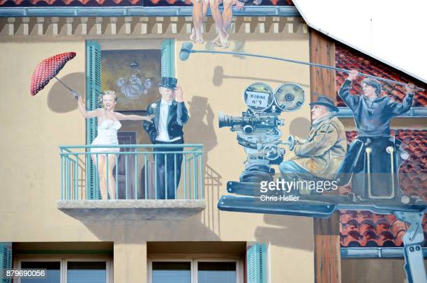 Mural Paintings Showing Film Set & Film Themes Cannes