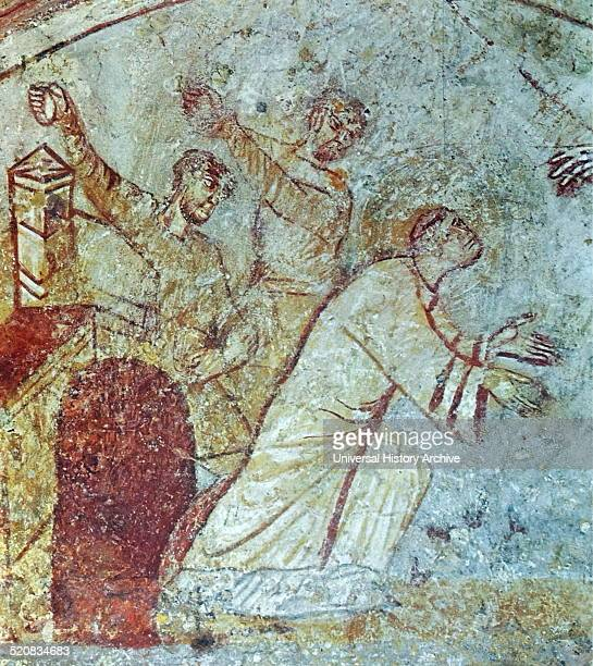 Mural titled 'The Stoning of St Stephen' Dated 859 AD