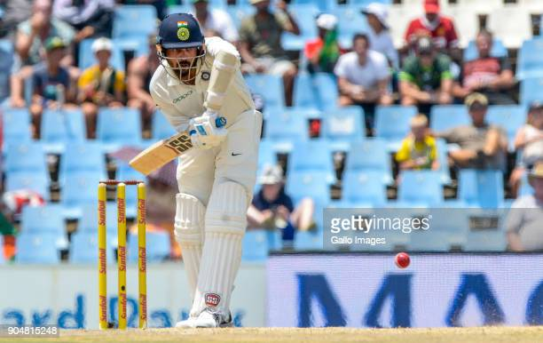 Murali Vijay of India during day 2 of the 2nd Sunfoil Test match between South Africa and India at SuperSport Park on January 14 2018 in Pretoria...