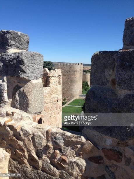 muralla avila - muralla stock photos and pictures