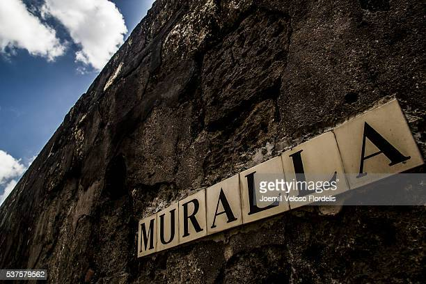 muralla, intramuros, manila, metro manila, philippines - muralla stock photos and pictures