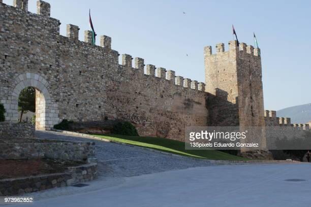 muralla medieval en montblanc - muralla stock photos and pictures