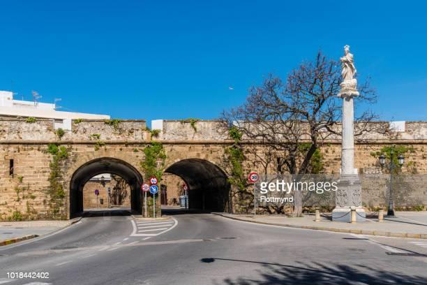 Murallas de San Carlos, ancient city wall, Cadiz, Spain