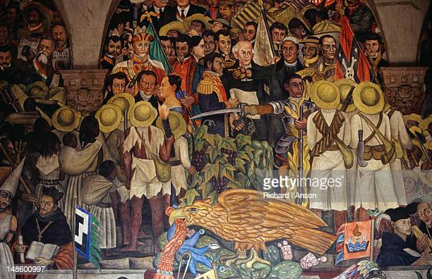Murals by Diego Rivera in the National Palace, the 120 frescos were painted by Rivera and his assitants in the 1920's