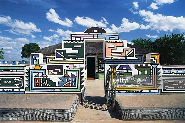 Murals in a Ndebele village South Africa